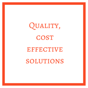 Quality and Effective Solutions Graphic