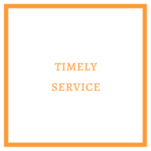 Timely Service Graphic